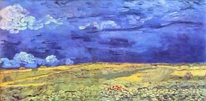 Field under storm heaven by Vincent Van Gogh Giclee Print  Repro on Canvas $54.95