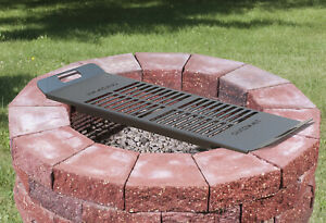 Model DIG-U2 Drop-in Cooking Grate for Firepits made using Landscaping Block