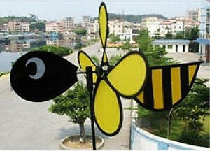 Bumble Bee Wind Spinner Windmill for Patio Yard Vegetable Garden for X Bird
