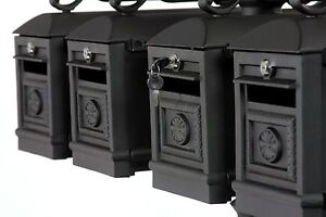 Locking QUADRUPLE Mailbox Premium Secure Cast Aluminum by Better Box Mailboxes