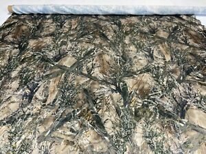 Camo Bridal Satin Fabric True Timber MC2 58quot; Wide Camouflage By The Yard