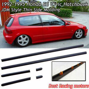 Thin Side Door Molding (ABS) Fits 92-95 Civic 3dr Hatch