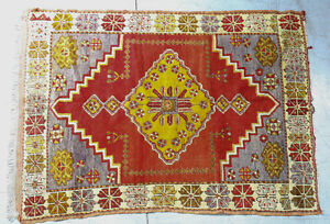 Authentic Turkish Wool Pile Rug c 1920s - 42