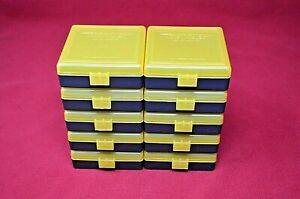 22 lr Ammo Box  Case  Storage (10 PACK YELLOW) 1000 Rnds of STORAGE (NO AMMO)