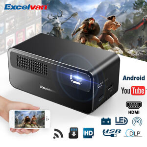 Portable DLP Home Theater Projector 7000Lumens WIFI 1080 Android5.1 Cinema Video
