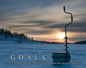 Ice Fishing Motivational Poster Art Print Antique Lures Reels Pole Wall Decor