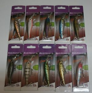 USA SHIP Lot of 10 pcs long 4.25 Fishing Lures Crankbaits Minnow Baits Tackle