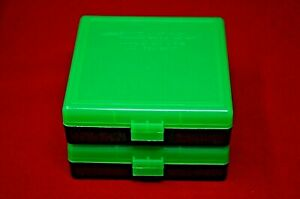 (2 PACK) 9mm  380  AMMO BOXES  STORAGE CASES (ZOMBIE GREEN) BERRY'S MFG.