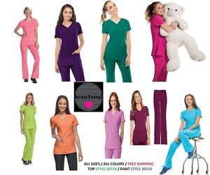 heartsoul scrubs sets ( Pant 20110 Top 20710) All Colors & Sizes FREE SHIPPING
