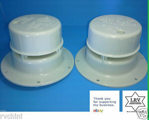 2 Roof Vent Cap for Rv, Motorhome, Camper o Trailer Polar White