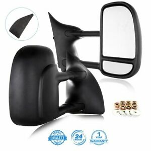 LHRH For 99 16 Ford F250 F550 Super Duty Tow Telescoping MANUAL Side Mirrors $96.99