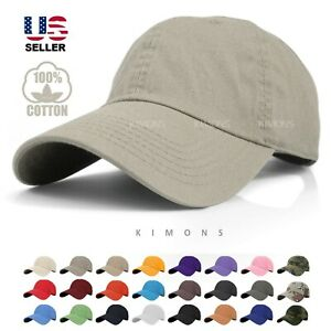 Cotton Cap Baseball Caps Hat Adjustable Polo Style Washed Plain Solid Dad PC $7.99