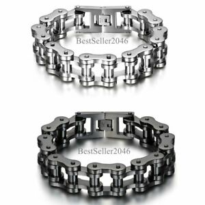 Men Heavy Sturdy Stainless Steel Motorcycle Bike Chain Bracelet Biker Wristband