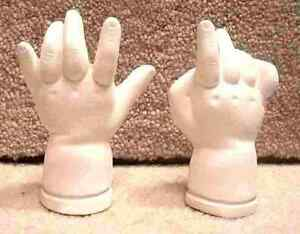 SNUG-LEE A FAYZAH SPANOS 104-A DESIGN 1992 DOLL MOLD FINGERS Hands Porcelain