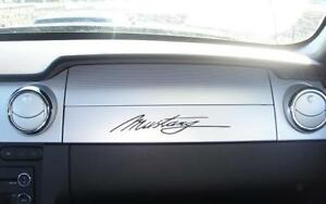 Ford Mustang Script Logo Sticker Decal Classic Accent L