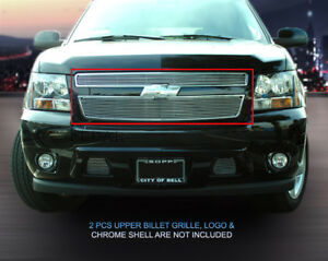 Billet Grille Front Upper Grill Fits 2007-2014 Chevy Tahoe Suburban Avalanche
