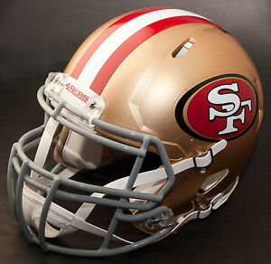 SAN FRANCISCO 49ers NFL Authentic GAMEDAY Football Helmet w S2BDC-SP Facemask