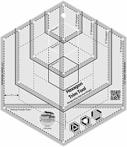 Creative Grids Hexagon Trim Tool Sewing and Quilting Ruler $29.49