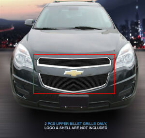 Fits 2010-2015 Chevy Equinox Black Billet Grille Grill