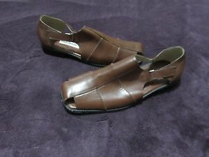 NWOB MENS DONATO MARRONE SLIP ON DRESS SHOES SIZE 12 BRAND NEW WITHOUT BOX