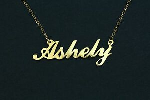 14K Solid Yellow Gold Any Personalized Name Necklace