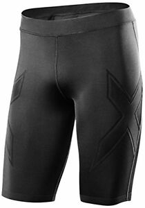2XU Mens XTRM Compression Shorts  Large  BlackBlack