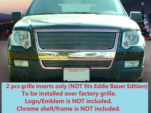 Billet Grille Grill Combo  For Ford Explorer 2006-2010