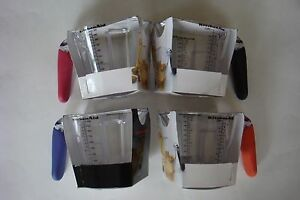 New KitchenAid 4 Cup Clear Measuring Cup Black Red Pink Purple Orange