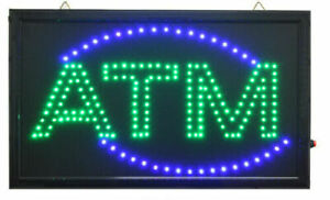 LARGE Animated LED ATM LED Neon Sign Bright Restaurant Shop Store 20