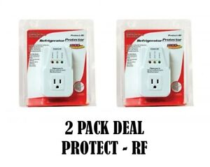 2 Pack 1800 Watts Power Surge Protector AC Voltage Brownout Refrigerator NEW