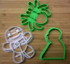 Halloween Cookie Cutters 2 Hitchcock Spider Voodoo Doll Choice of Sizes