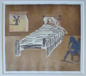 SALVADOR DALI LE LEGACY DON QUIXOTE Quichotte SIGNED HAND NUMBERD ETCHING