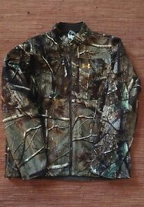 Under Armour Mens Cumberland Fleece Wind Camo Jacket and Pants(J-Large P-W34)