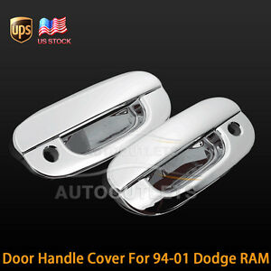 For 94-01 Dodge RAM 1500 2500 ABS Chrome Plated 2 Door Handle Cover WPSK