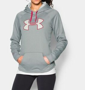 Under Armour Women's Rival Big Logo Hoodie (Gray) 1246825-025