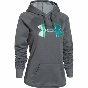 Under Armour Women's Rival Big Logo Hoodie (Carbon) 1246825-090