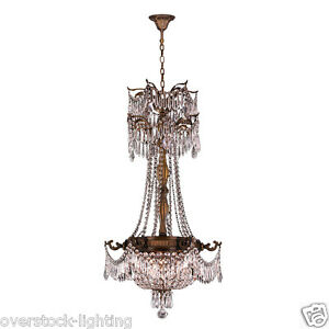 USA BRAND Winchester 3 Light Antique Bronze Finish Crystal Chandelier 20