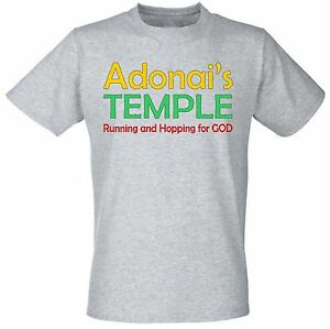 Adonai's Temple Running and Hopping for God Religious Christian Judaism T shirts