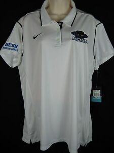 NWT Nike UCSB Santa Barbara Gauchos Basketball Dri Fit Polo Shirt Womens 2XL