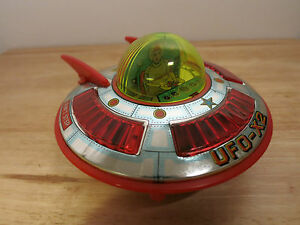 1970s daiya ufo x2 spaceship spacecraft tin japan