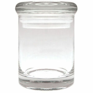 APOTHECARY THICK GLASS HERB & SPICE, JAR AIR TIGHT SUCTION LID