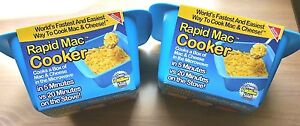 Rapid Mac Cooker LOT OF 2 Microwave Box Macaroni & Cheese in 5 Minutes NWT
