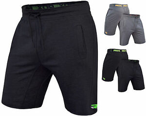 RDX Fleece Shorts MMA Training Gym Bottoms Mens Sports Pants Boxing Running