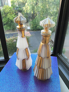 1950s pair of italian bottles