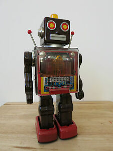 metal house piston robot tin space toy japan