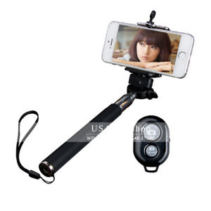 New Extendable Handheld Shutter Remote Selfie Stick Monopod for iPhone Samsung
