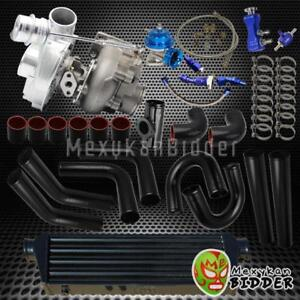 T3T4 Univerial V-Band Turbo Upgrade Kit wBOV+Oil Lines+Piping