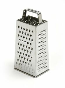 Norpro 4-Sided Stainless Steel Box Cheese Carrot Food Grater Shredder 8.25