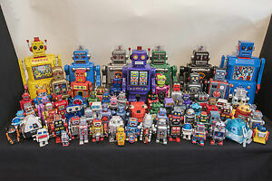 robot collection x72 tin plastic robots