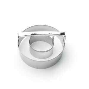 Fox Run Cookie Cutter 4quot; Tin Plated Steel Donut Cutter with Handle $9.82